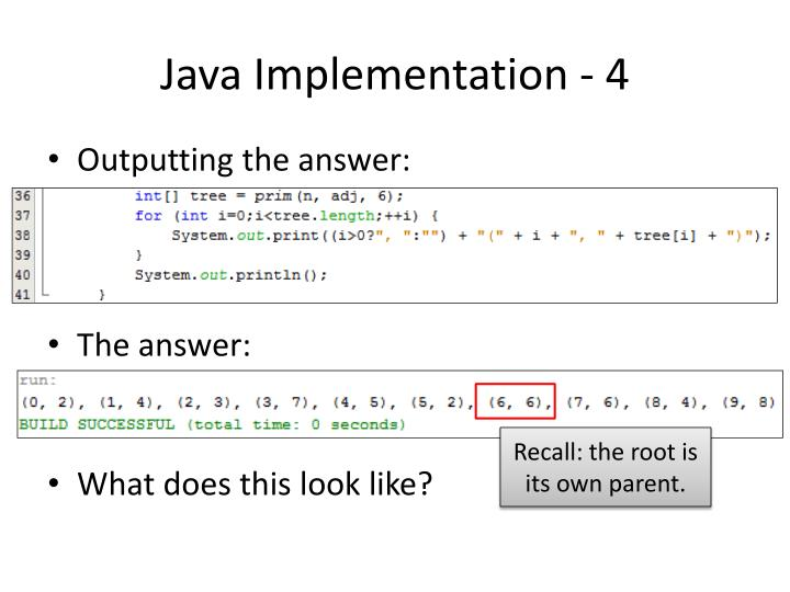 Java Implementation - 4