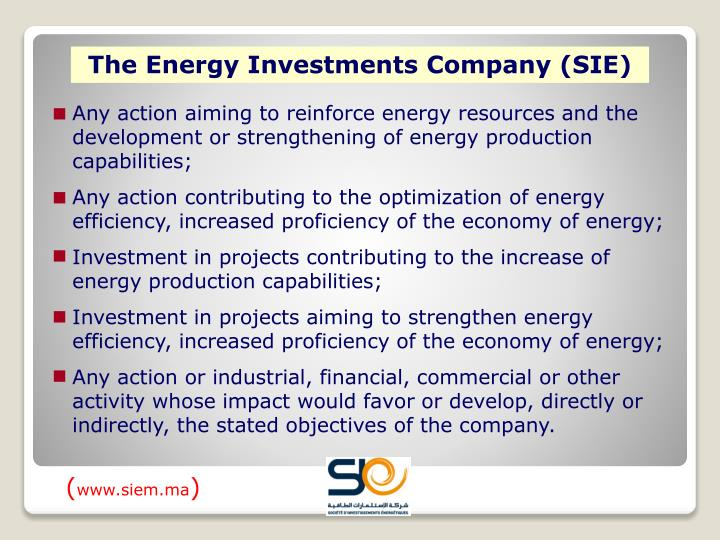 The Energy Investments Company (SIE)