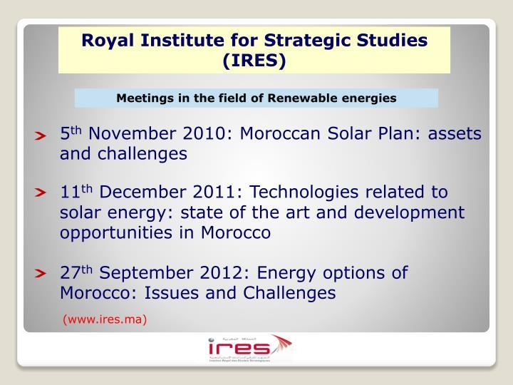 Royal Institute for Strategic Studies (IRES)