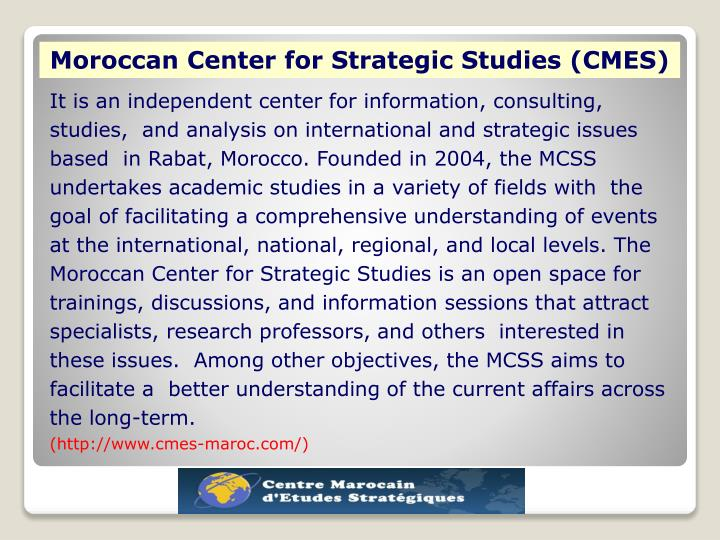 Moroccan Center for Strategic Studies (CMES)