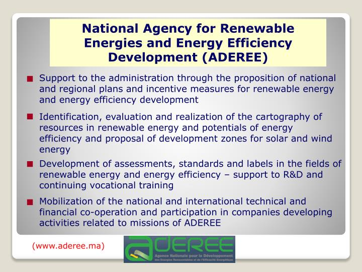 National Agency for Renewable Energies and Energy Efficiency Development (ADEREE)