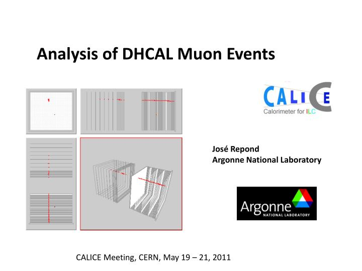 Analysis of DHCAL Muon Events