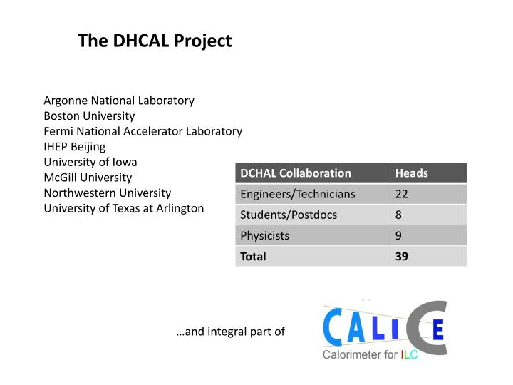 The DHCAL Project