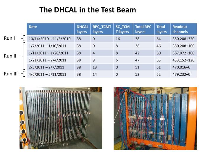 The DHCAL in the Test Beam