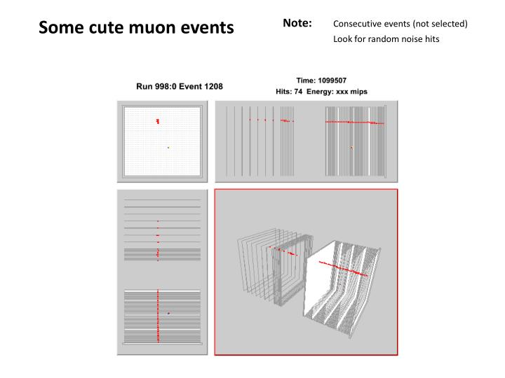 Some cute muon events