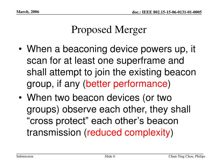 Proposed Merger
