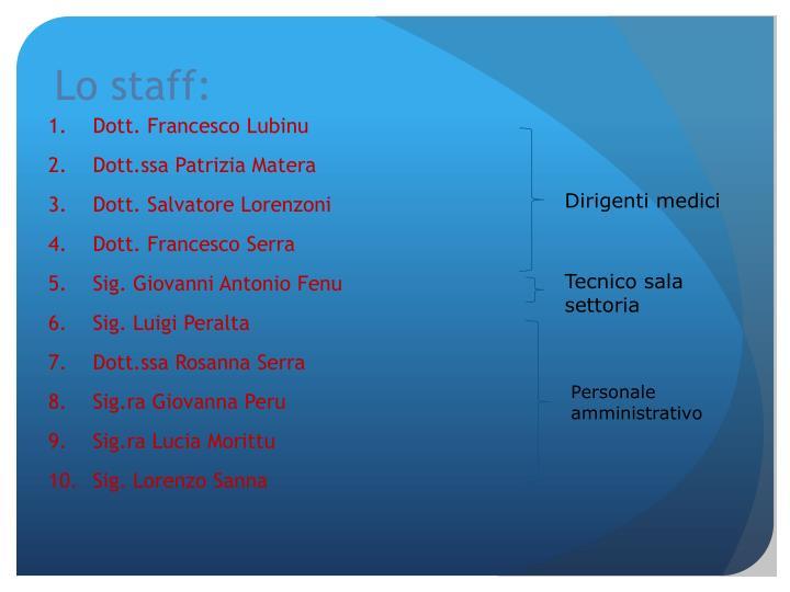 Lo staff: