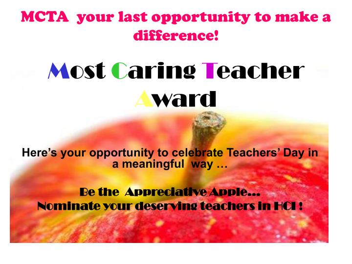 MCTA  your last opportunity to make a difference!