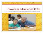 discovering educators of color