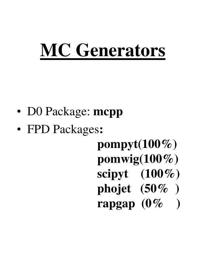 MC Generators