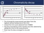 chromaticity decay1