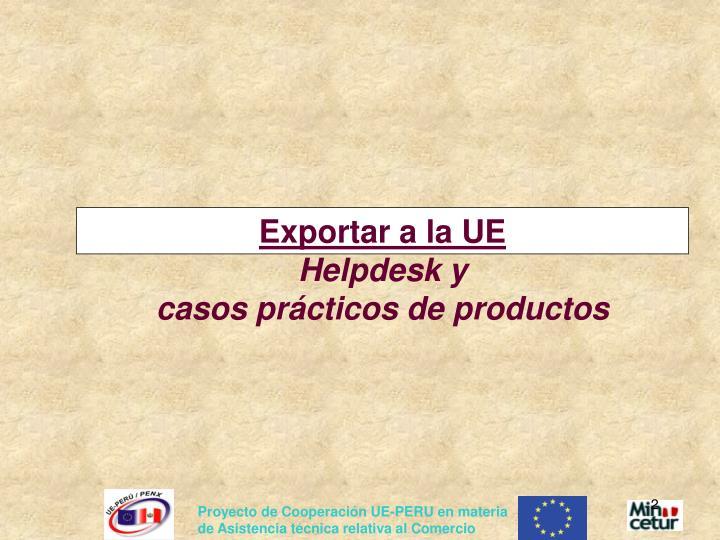 Exportar a la UE