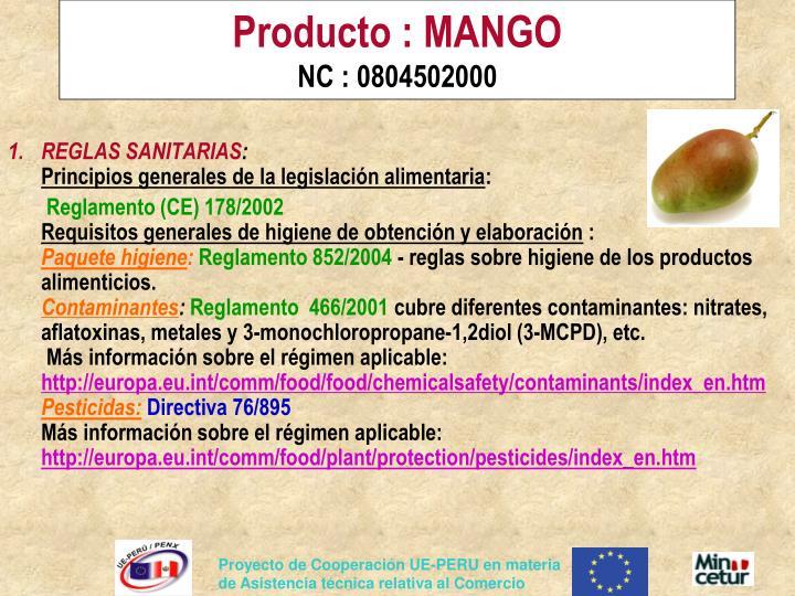 Producto : MANGO