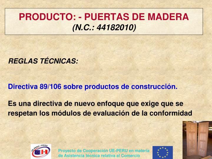 PRODUCTO: - PUERTAS DE MADERA