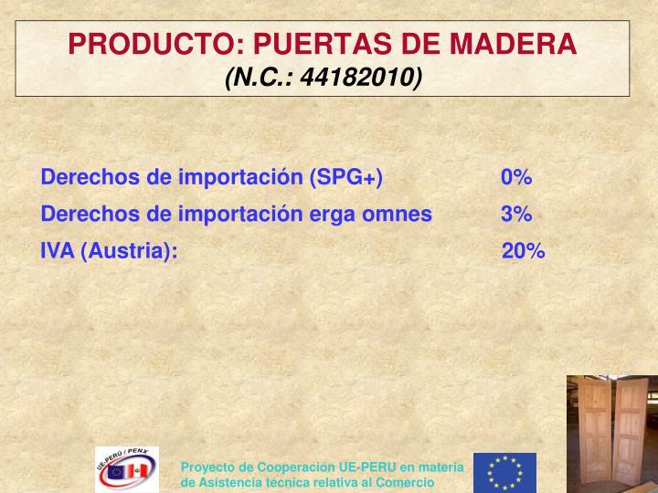 PRODUCTO: PUERTAS DE MADERA