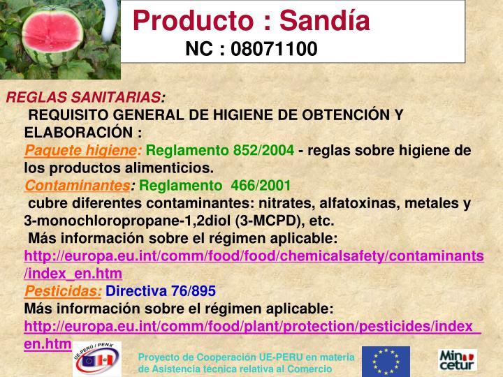 Producto : Sandía