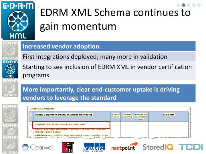 EDRM XML Schema continues to gain momentum
