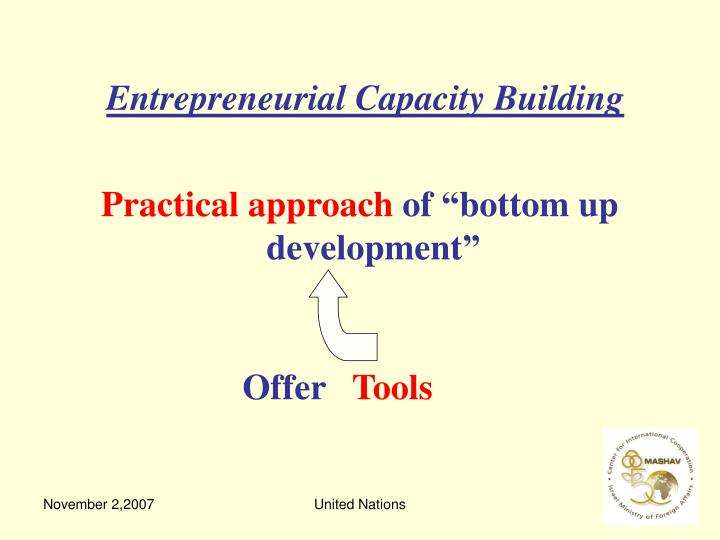 Entrepreneurial Capacity Building
