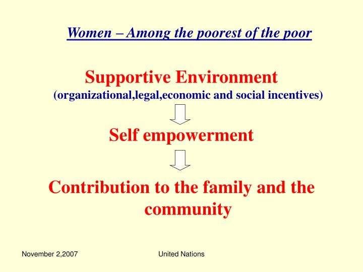 Women – Among the poorest of the poor