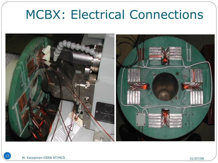 MCBX: Electrical Connections