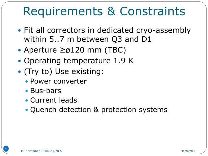 Requirements & Constraints