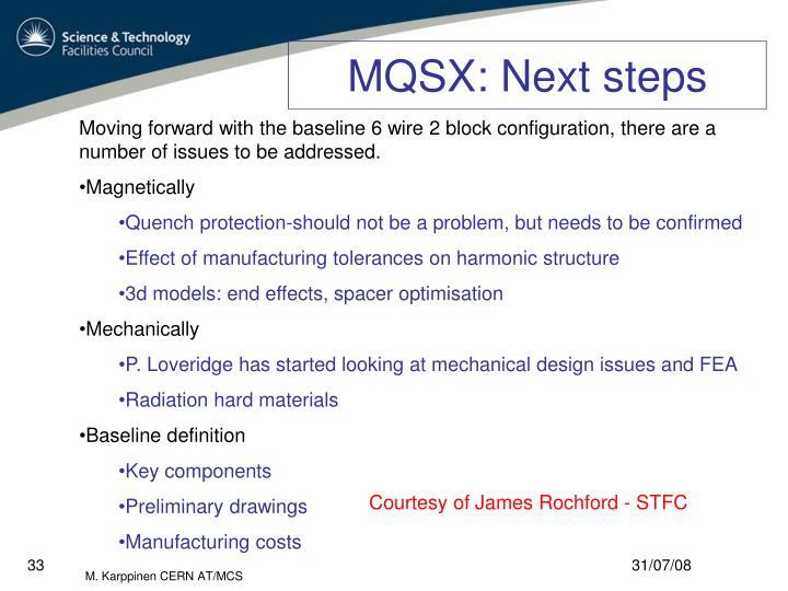MQSX: Next steps