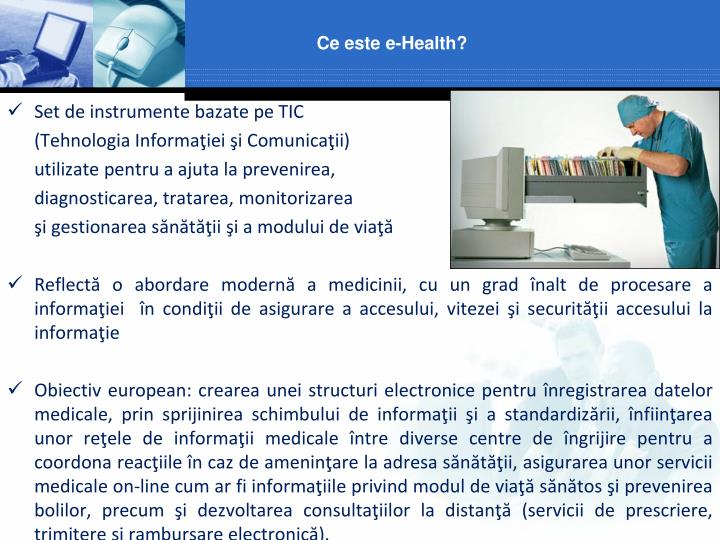 Ce este e-Health