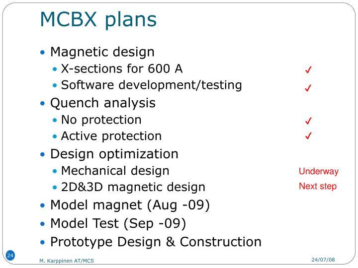 MCBX plans