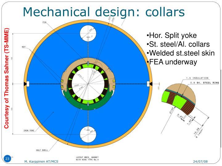 Mechanical design: collars