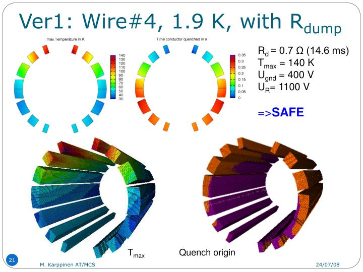 Ver1: Wire#4, 1.9 K, with R