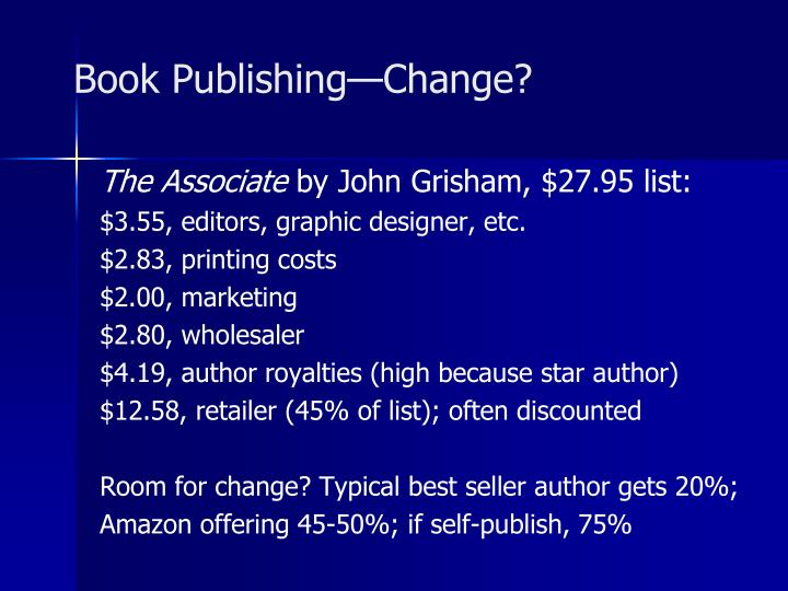 Book Publishing—Change?