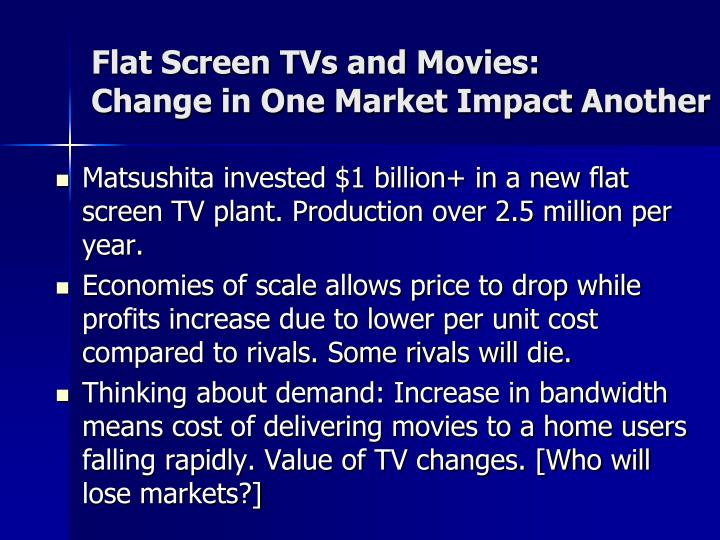 Flat Screen TVs and Movies: