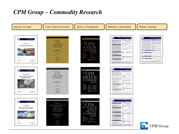 CPM Group – Commodity Research