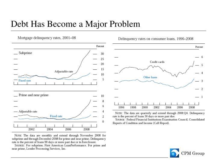 Debt Has Become a Major Problem