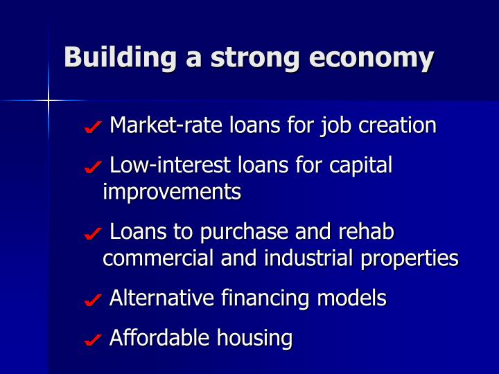 Building a strong economy