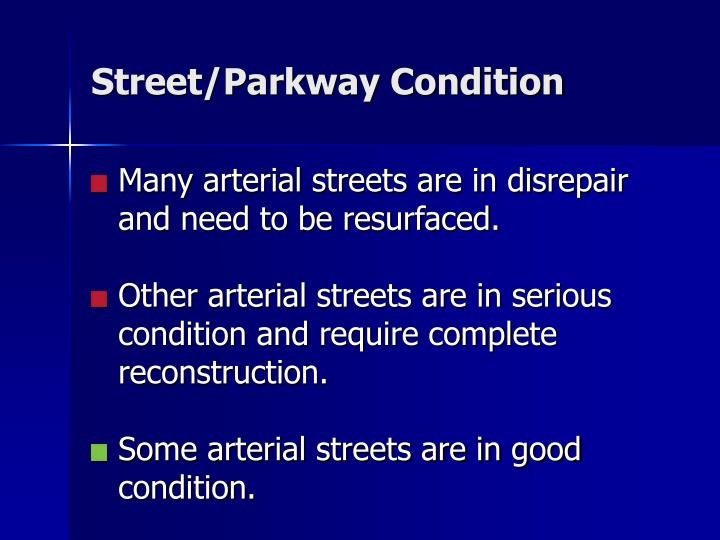 Street/Parkway Condition