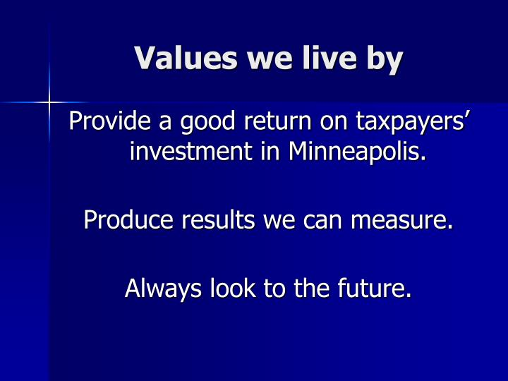 Values we live by