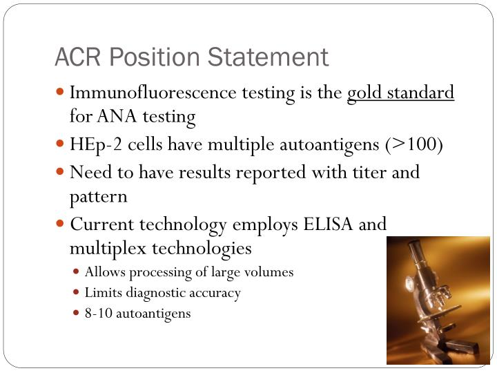 ACR Position Statement