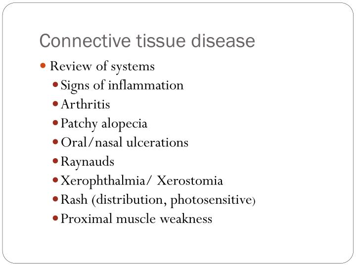 Connective tissue disease