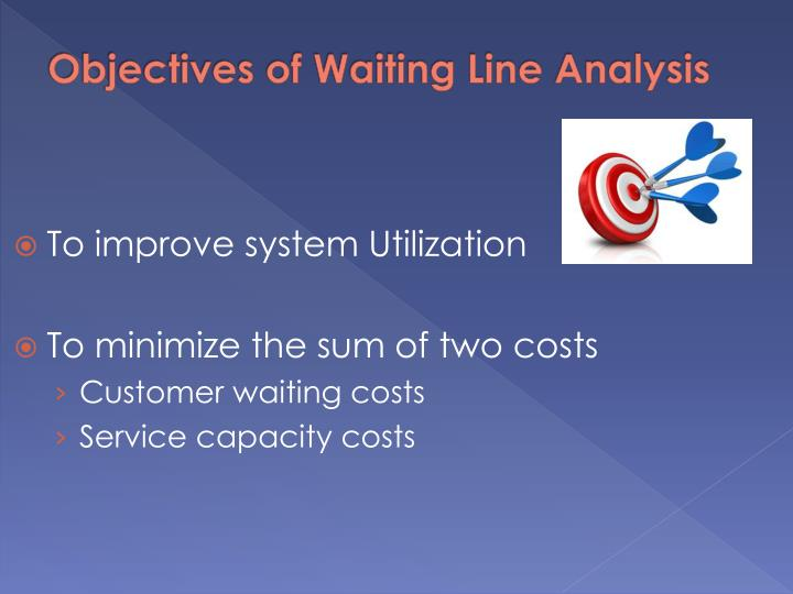 Objectives of Waiting Line Analysis