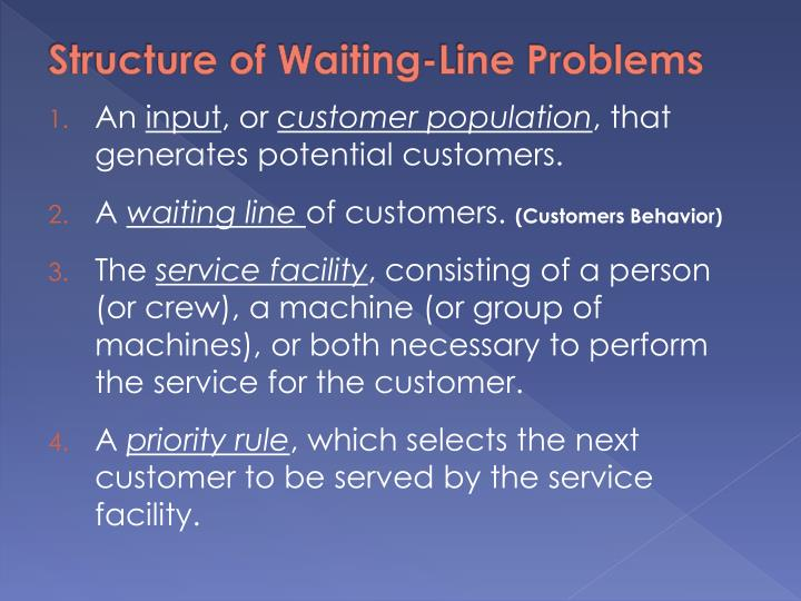 Structure of Waiting-Line Problems
