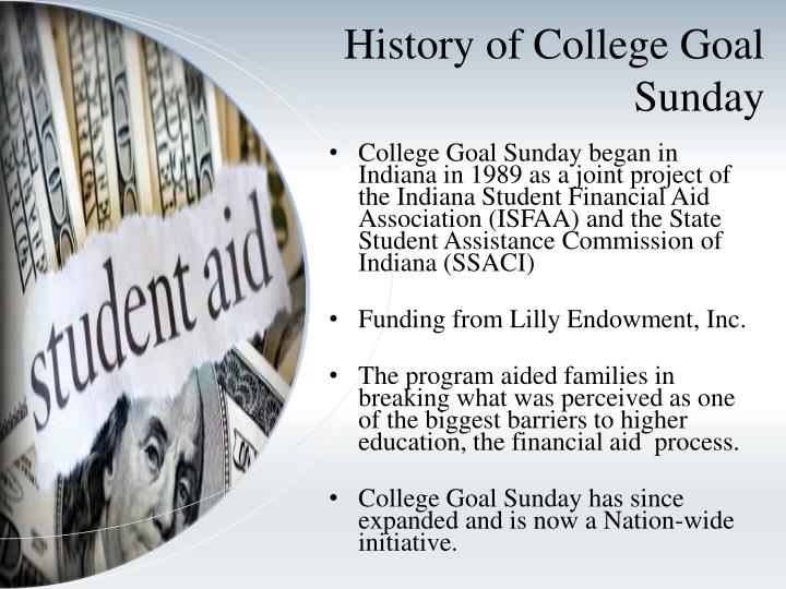 History of College Goal Sunday