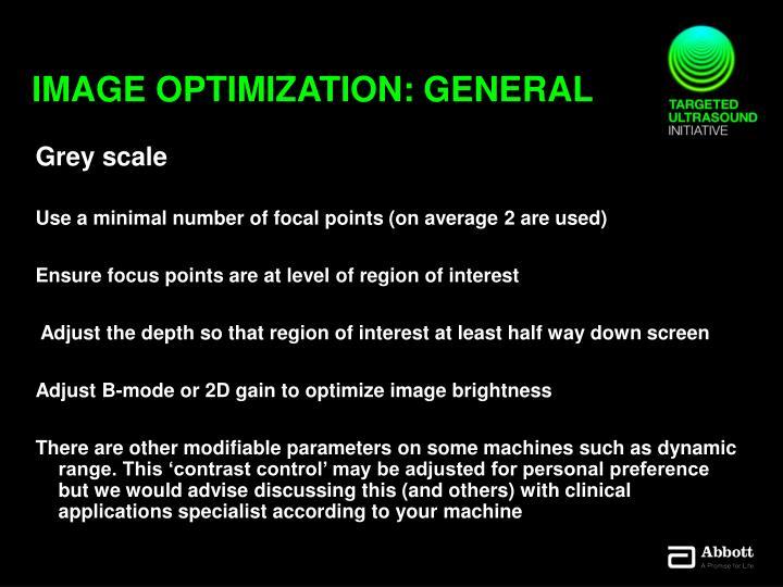 Image optimization: General