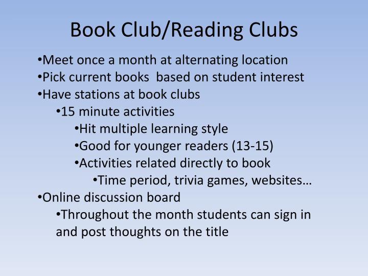 Book Club/Reading Clubs
