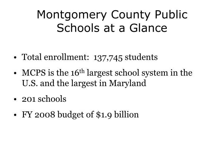 Montgomery County Public Schools at a Glance