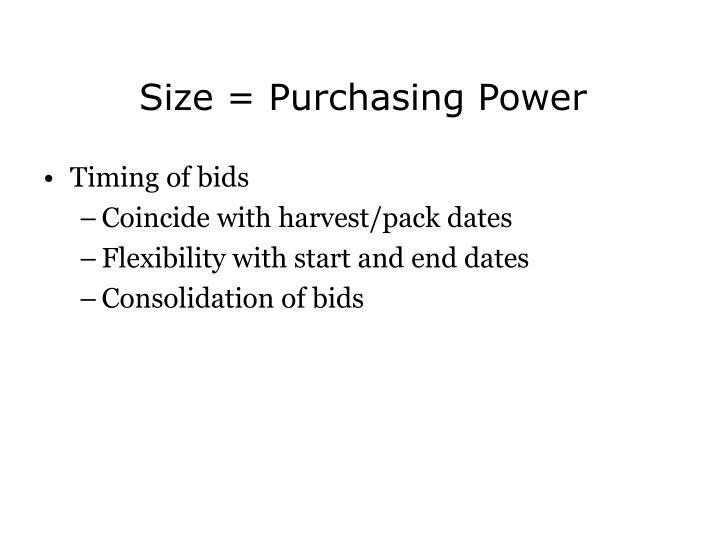 Size = Purchasing Power