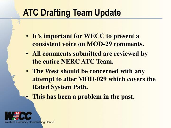 ATC Drafting Team Update
