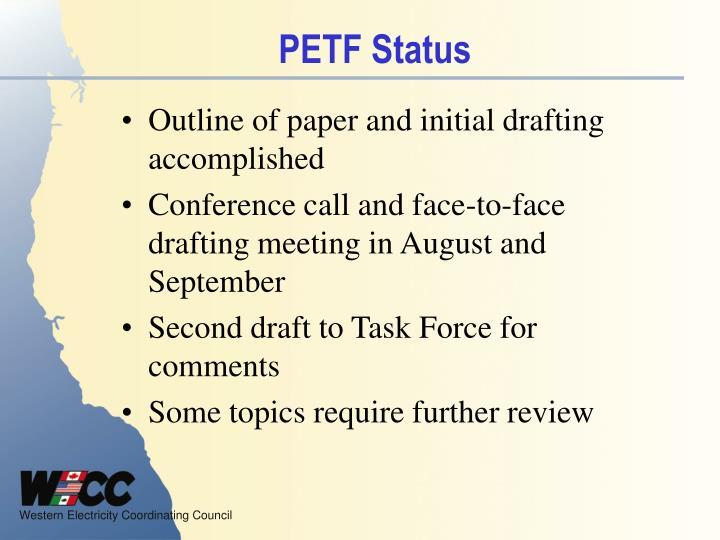 PETF Status