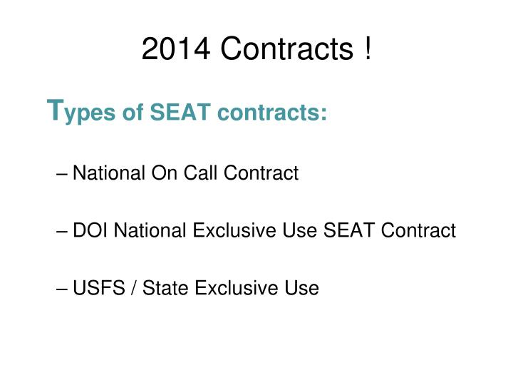 2014 Contracts !