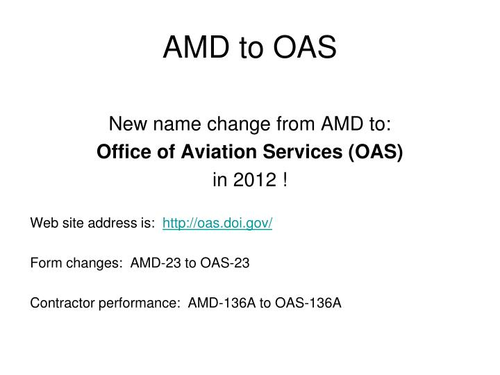 AMD to OAS